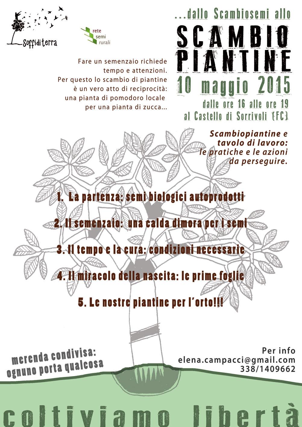 SCAMBIOPIANTINE – 10 Maggio 2015 Castello di Sorrivoli (FC)